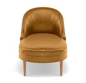 BELLA LEATHER CHAISE, MONT BLANC - FAWN, hi-res