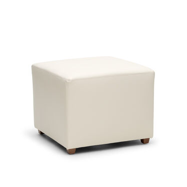 FRANNY SQUARE LEATHER PULL UP OTTOMAN, TRIBECA - CREAM, hi-res