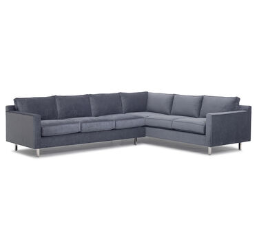 HUNTER STUDIO SECTIONAL SOFA, ELLER - SLATE, hi-res