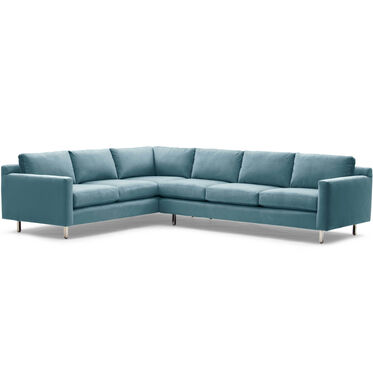 HUNTER STUDIO RIGHT SECTIONAL SOFA, PIPPIN - TEAL, hi-res