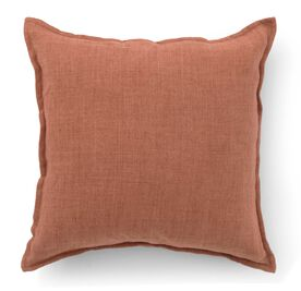 "LINEN PETITE FLANGE 22"" X 22' ACCENT PILLOW, , hi-res"
