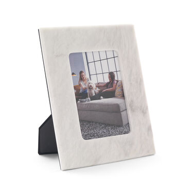 PEARL WHITE MARBLE FRAME - 5X7, , hi-res