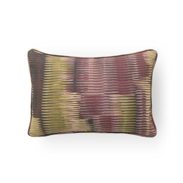 "LINEN 18"" X 12"" WELT ACCENT PILLOW, LEIGH - AUBERGINE SAGE, hi-res"