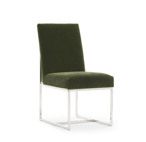 GAGE LOW DINING CHAIR, MOHAIR - SAGE, hi-res