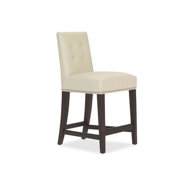 OLIVER LEATHER COUNTER STOOL, CORDELL - DOVE, hi-res