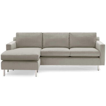 HUNTER STUDIO NO WELT 85 LEFT CHAISE SECTIONAL, PIPPIN - STONE, hi-res