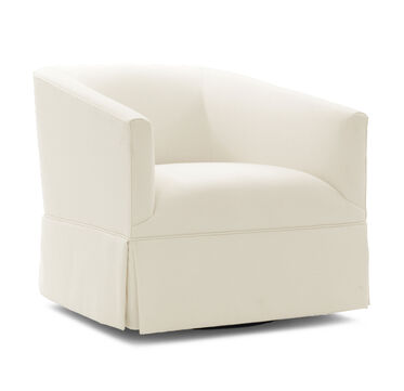 COOPER SKIRTED FULL SWIVEL CHAIR, TERRACE - ECRU, hi-res