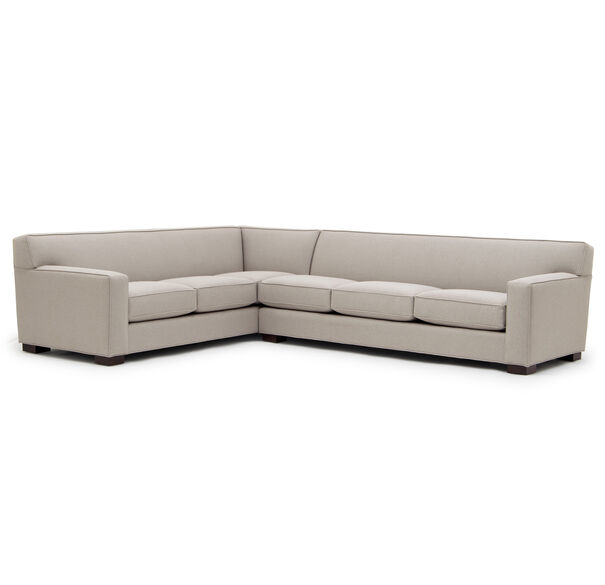 JEAN LUC RIGHT SECTIONAL, Performance Textured pebble Weave - PEWTER                             , hi-res