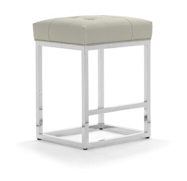 GINGER LEATHER COUNTER STOOL, , hi-res