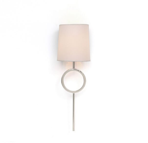 MARCO SCONCE - POLISHED NICKEL WHITE SHADE, , hi-res