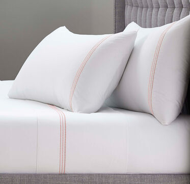 PEARL STITCH QUEEN FLAT SHEET - PLAIN, , hi-res