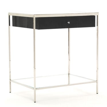 MANNING 1 DRAWER SIDE TABLE - CAVIAR, , hi-res