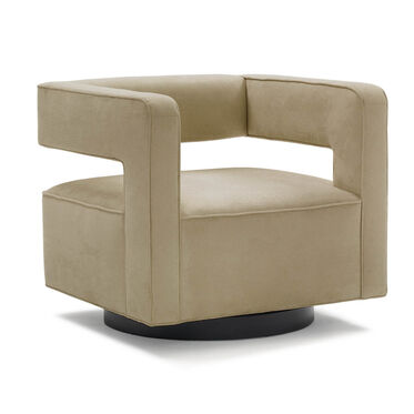 NICO FULL SWIVEL CHAIR, SOFT SUEDE - TAUPE, hi-res