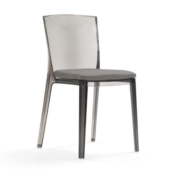 ALAIN SMOKE SIDE DINING CHAIR WITH CUSHION, TERRACE - GRAPHITE, hi-res