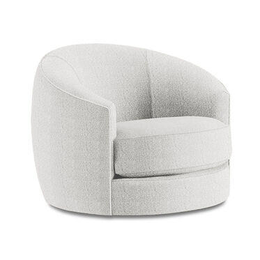 GISELLE SWIVEL CHAIR, Boucle - SNOW, hi-res