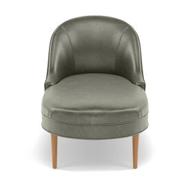 BELLA LEATHER CHAISE, MONT BLANC - FERN, hi-res