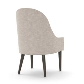BELLA SIDE CHAIR, Performance Textured Linen - PEWTER, hi-res