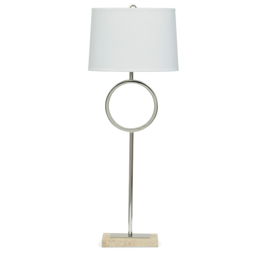 MARCO BUFFET LAMP WITH WHITE SHADE, , Hi Res