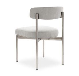 REMY DINING CHAIR - PSS, Sunbrella Performance Basket Weave - PEWTER                             , hi-res