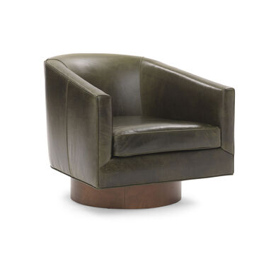 BIANCA FULL SWIVEL LEATHER CHAIR, , hi-res