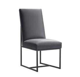 GAGE TALL DINING CHAIR - PEWTER, Vinyl - CHARCOAL, hi-res