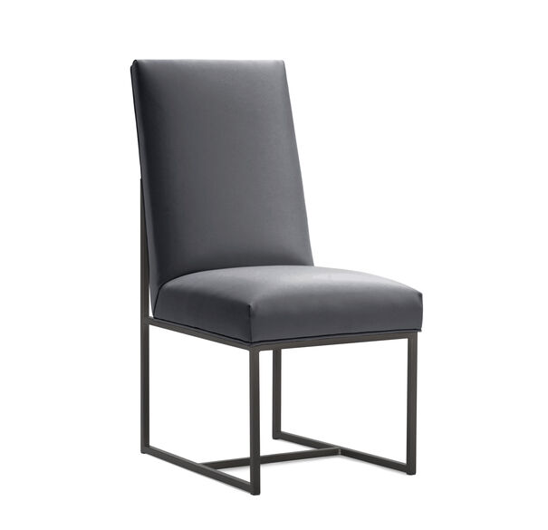 GAGE TALL DINING CHAIR - PEWTER, KOKO - CHARCOAL, hi-res