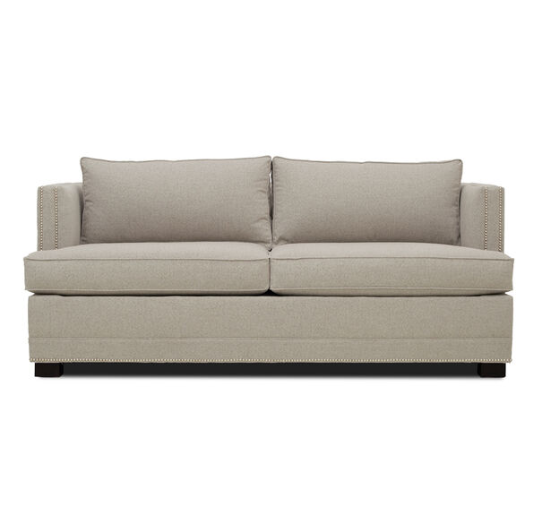 KEATON SHELTER ARM SUPER LUXE QUEEN SLEEPER CLASSIC DEPTH WITH NAILHEAD, FULMER - TAUPE, hi-res