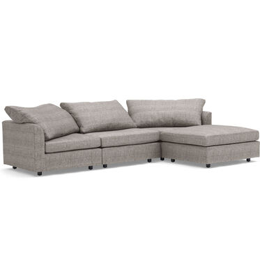 BIG EASY 4-PC SECTIONAL, COSTA - GRAPHITE, hi-res