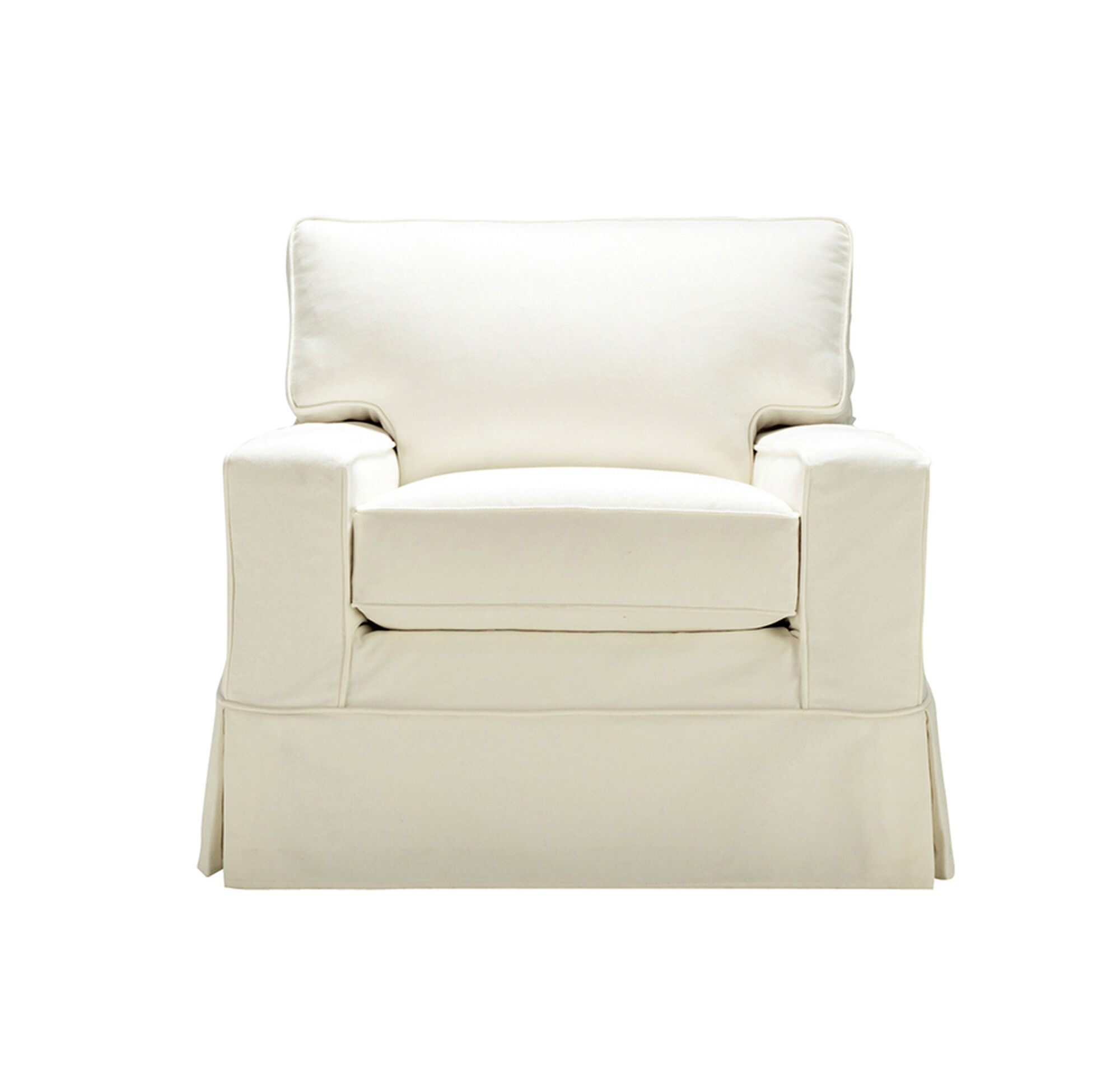 100 Furniture Armless Chair Slipcover Loveseat