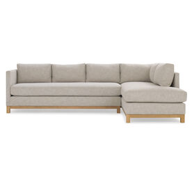 CLIFTON LEFT SECTIONAL, Performance Textured Linen - OATMEAL, hi-res