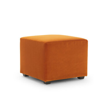 FRANNY SQUARE PULL UP OTTOMAN, VIVID - BLOOD ORANGE, hi-res