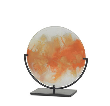 ORANGE AND GOLD GLASS OBJECT, , hi-res