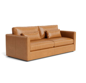 HAYWOOD LEATHER SOFA, Mont Blanc - Italian Leather - Fawn, hi-res
