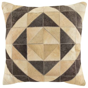 DIAMOND COW HIDE PILLOW 22 X 22, , hi-res