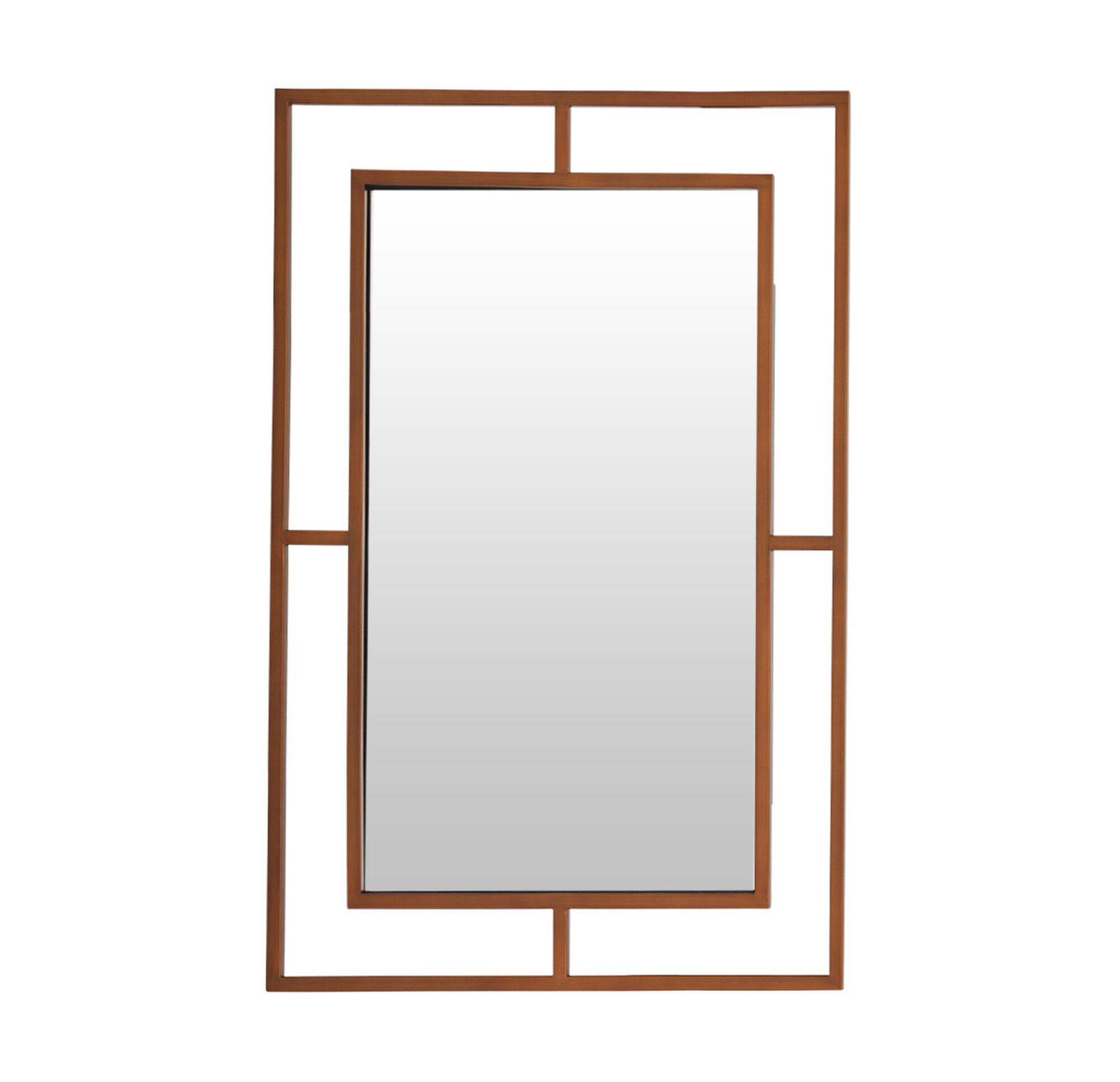 mirror. MING LARGE MIRROR - SATIN BRASS, , Hi-res Mirror