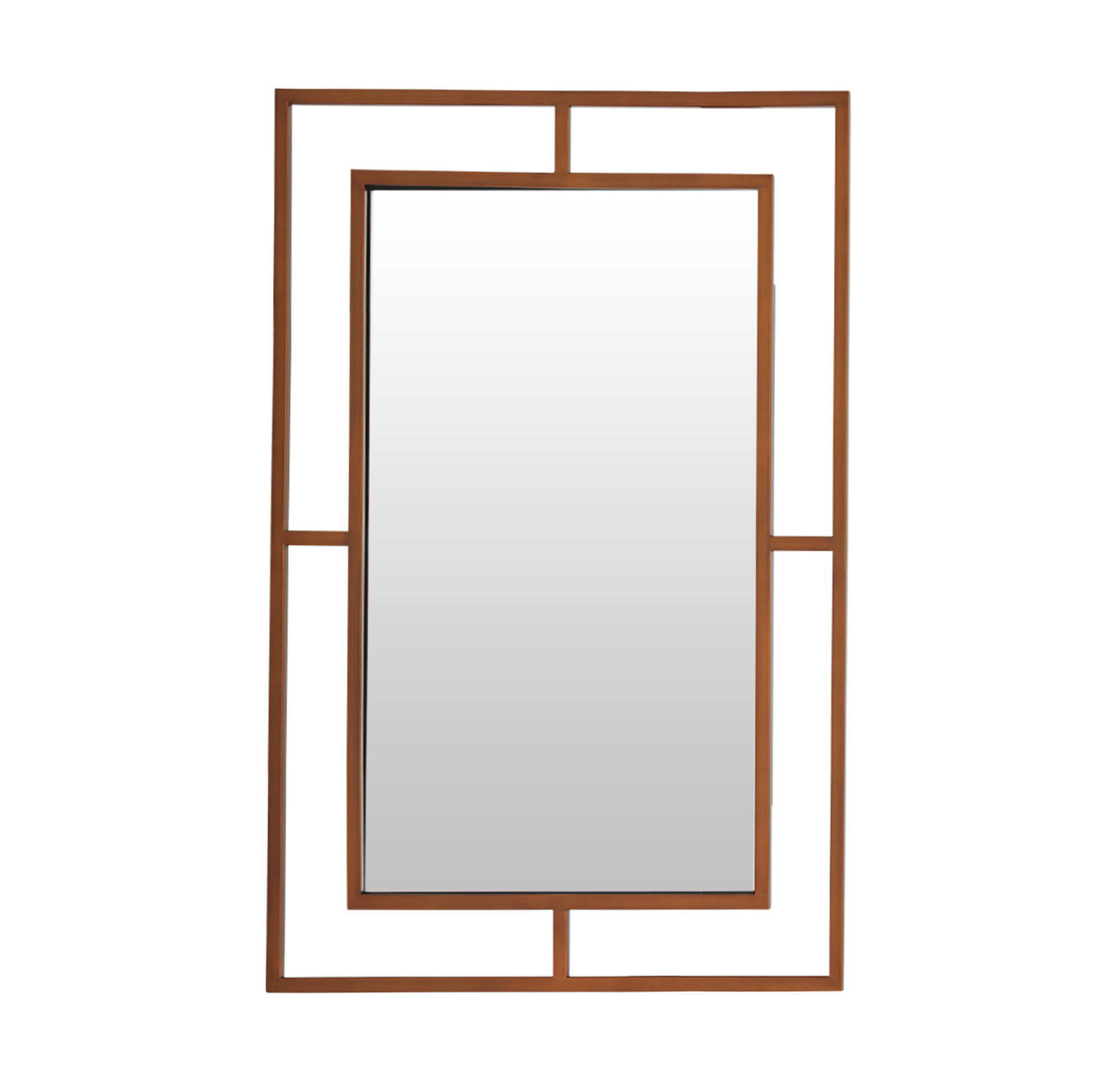 Ming large mirror satin brass for Large square mirror