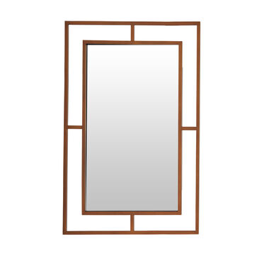MING LARGE MIRROR - SATIN BRASS, , hi-res