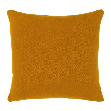 "LINEN 20"" X 20"" ACCENT PILLOW, SIMONE - CURRY, hi-res"
