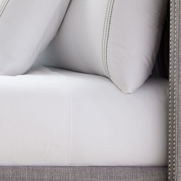 PEARL STITCH FULL FITTED SHEET, , hi-res