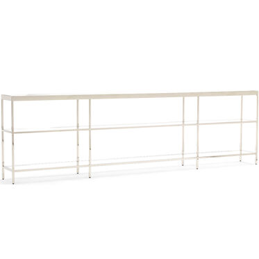 VIENNA LOW BOOKCASE EXTRA LARGE- POLISHED STAINLESS STEEL, , hi-res