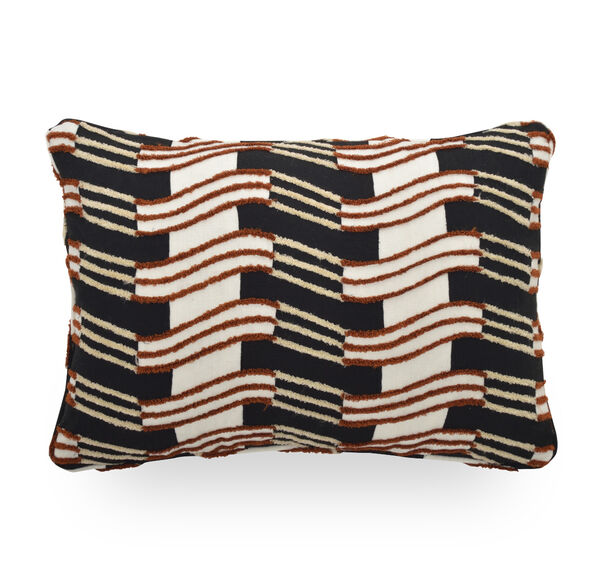 22 X 15 IN. THROW PILLOW, DOVER - BLACK & WHIT, hi-res