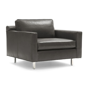 HUNTER LEATHER CHAIR, MONT BLANC - WOLF, hi-res