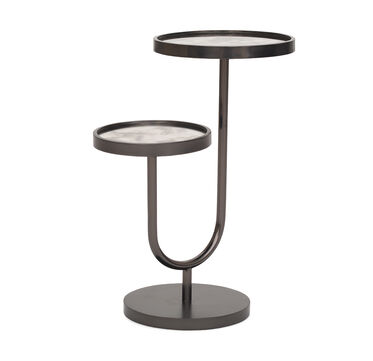 RINGO PULL-UP SIDE TABLE - BLACK, , hi-res