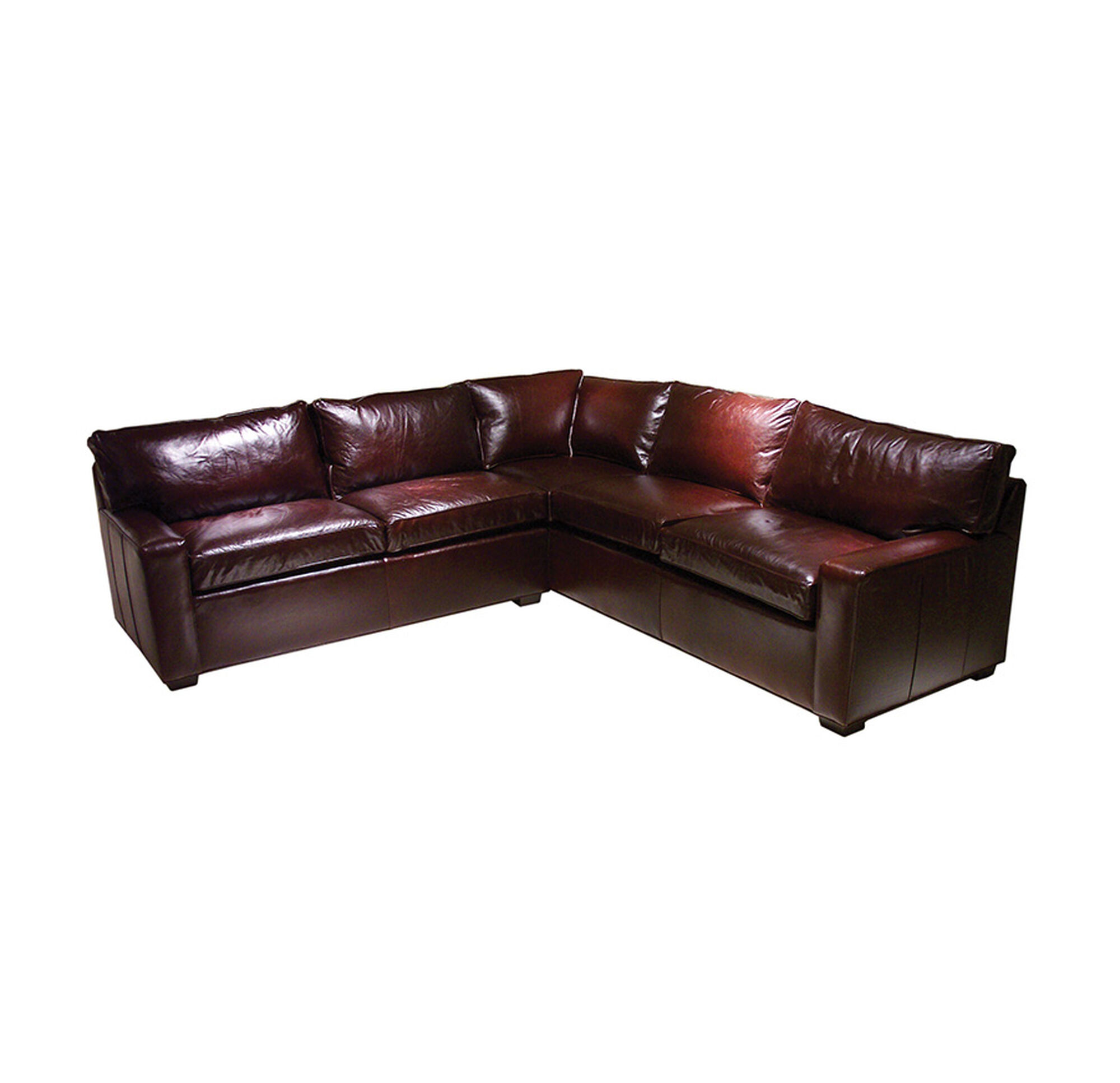 ALEX LEATHER SECTIONAL