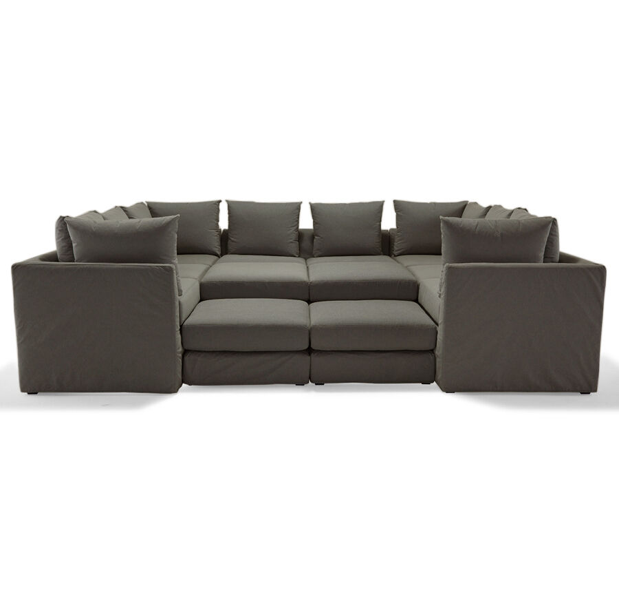 DR PITT 7PC SECTIONAL SOFA