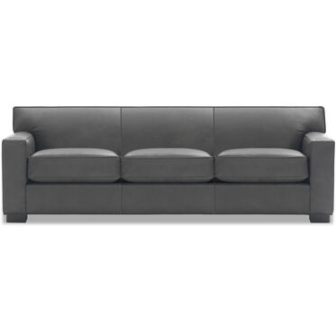 JEAN LUC LEATHER SOFA, MANCHESTER - GRAPHITE, hi-res