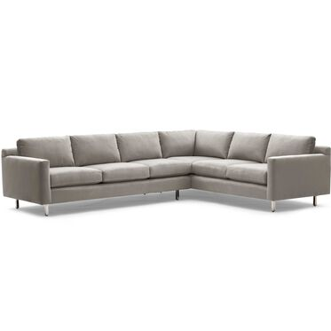 HUNTER STUDIO LEFT SECTIONAL SOFA, PIPPIN - MINK, hi-res