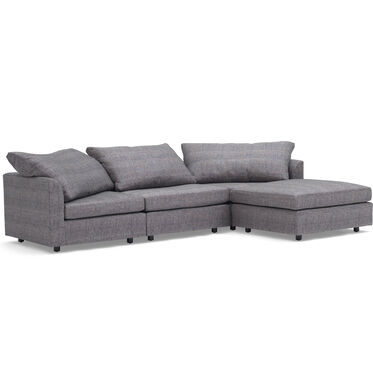 BIG EASY 4-PC SECTIONAL, COSTA - CHARCOAL, hi-res
