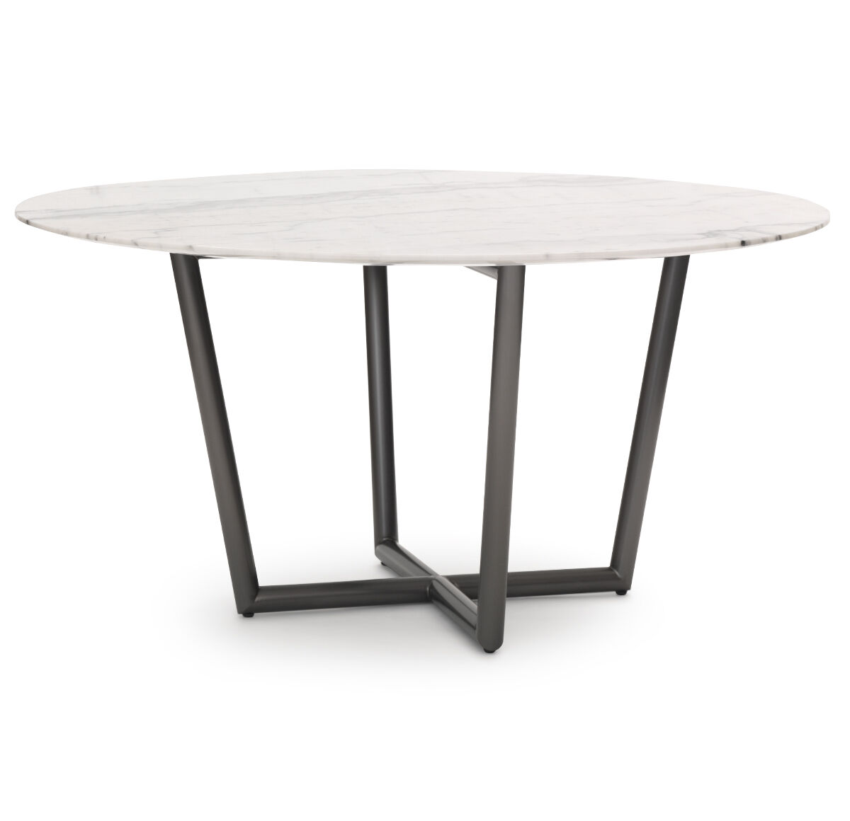 MODERN ROUND DINING TABLE   PEWTER, , Hi Res