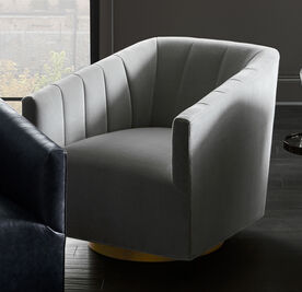 COOPER CHANNEL TUFTED SWIVEL CHAIR